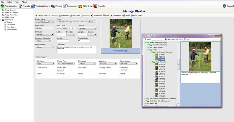 Screenshot of NCompas Media software